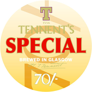Tennent's Special 70/-, keg 11 gal x 1