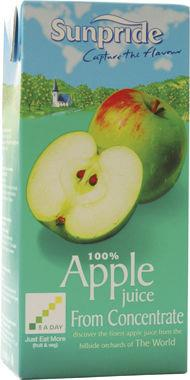 Sunpride Apple Juice , tetra 1 lt x 12