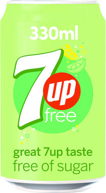 Diet 7 Up, can 330 ml x 24