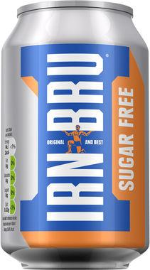Barrs Irn Bru Sugar Free, Can 330 ml x 24