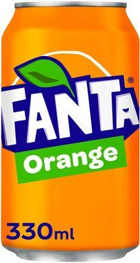 Fanta Orange, can 330 ml x 24