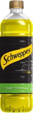 Schweppes Lime Cordial, PET 1 lt x 12