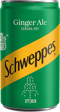 Schweppes Canada Dry Ginger Ale TP, can 150 ml x 24
