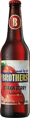Brothers Strawberry Mixed Pear Cider, NRB 500 ml x 12