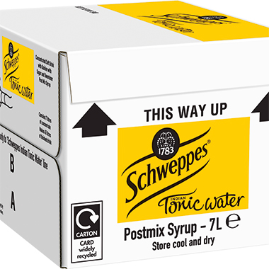 Schweppes Tonic Water, post-mix