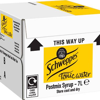 Schweppes Tonic Water, post-mix 7 lt x 1