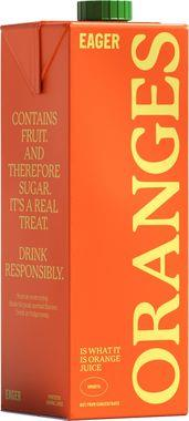 Eager Orange Juice 1 lt x 8