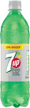 7 Up Free, PET 600 ml x 24