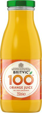 Britvic 100% Orange, NRB 250 ml x 24