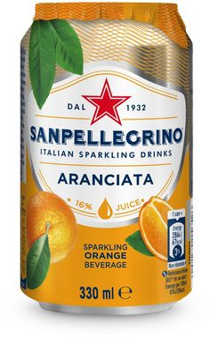 San Pellegrino Aranciata, Can 330 ml x 24