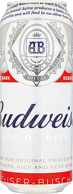 Budweiser, can 500 ml x 24