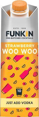 Funkin Strawberry Woo Woo Cocktail Mixer 1lt