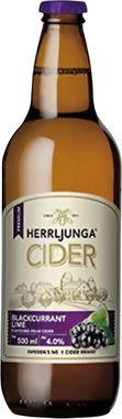 Herrljunga Blackcurrant & Lime Cider, NRB 500 ml x 12