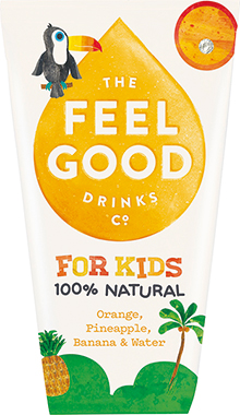Feel Good Kids Orange, Pineapple & Banana 180 ml x 20