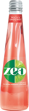 Zeo Peach and Grapefruit, NRB 275 ml x 12