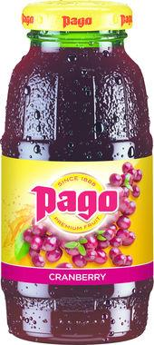Pago Cranberry Juice, NRB 200ml x 12