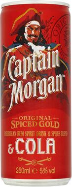 Captain Morgan Spiced Gold Rum and Cola 250 ml x 12