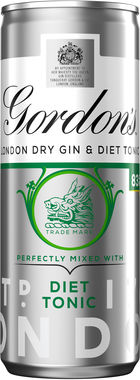 Gordon's Gin and Schweppes Slimline Tonic 250 ml x 12