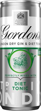 Gordon's London Dry Gin and Diet 250 ml x 12