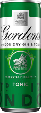 Gordon's & Tonic Can 250 ml x 12