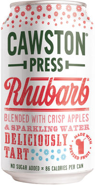 Cawston Press Sparkling Apple & Rhubarb, Can