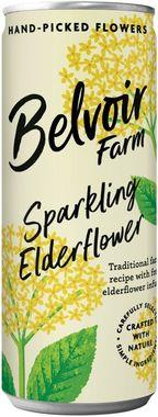 Belvoir Sparkling Elderflower Presse, Can 250 ml x 12