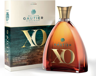 Cognac Gautier XO Gold & Blue Gift Box 70cl