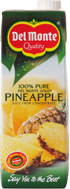 Delmonte 100% Pure Pineapple Juice 1 lt x 6