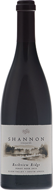 Shannon Rockview Ridge Pinot Noir, Elgin Valley