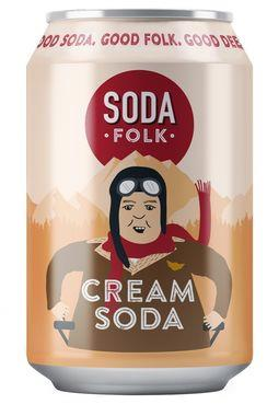 Soda Folk Cream Soda, Can 330 ml x 24