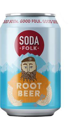 Soda Folk Root Beer, Can 330 ml x 24