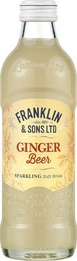 Franklin & Sons Brewed Ginger Beer with malted barley & a squeeze lemon. 275 ml x 12