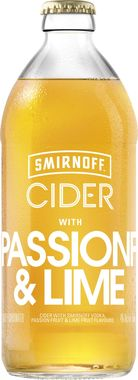 Smirnoff Cider passion fruit and lime 500 ml x 8