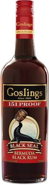 Goslings 151 Proof Black Seal Rum