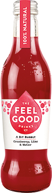 Feel Good Sparkling Cranberry & Lime 275 ml x 24