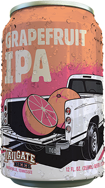 Grapefruit IPA Can - Tailgate 355 ml x 24