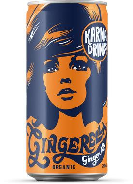Karma Gingerella Ginger Ale, Can 250 ml x 24
