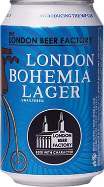 The London Beer Factory Bohemia Lager, Can 330 ml x 24