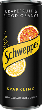 Schweppes Sparkling Juice Grapefruit & Blood Orange Can 250 ml x 24