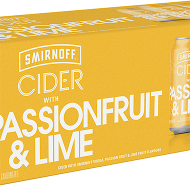 Smirnoff Cider Passionfruit and Lime 330ml x 10 x 3