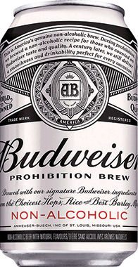 Budweiser Prohibition Brew Non-Alcoholic, Can