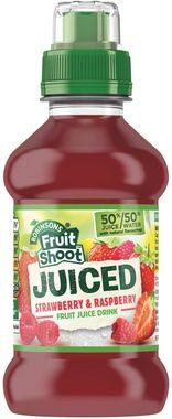 Fruit Shoot Juiced Strawberry & Raspberry, PET 200 ml x 24