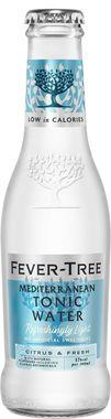 Fever Tree Refreshingly Light Mediterranean Tonic Water, NRB 200 ml x 24