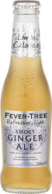 Fever Tree Refreshingly Light Smoky Ginger Ale, NRB 200 ml x 24
