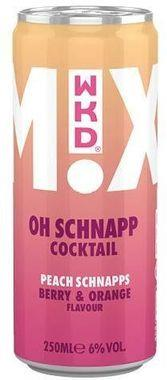 WKD Oh Schnapp Cocktail, Can 250 ml x 12