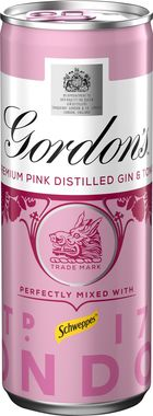 Gordons Pink Gin & Schweppes Tonic, Can