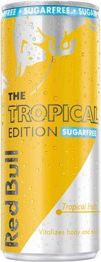 Red Bull Energy Drink, Sugar Free, Tropical Edition, Can 250 ml x 12