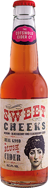 The Cotswold Cider Co. SweetCheeks, Elderberry and Blackberry Cider 330 ml x 24
