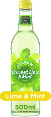 Robinsons Crushed Lime and Mint, Cordial 500 ml x 8