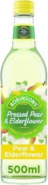Robinsons Pressed Pear and Elderflower Cordial 500 ml x 8